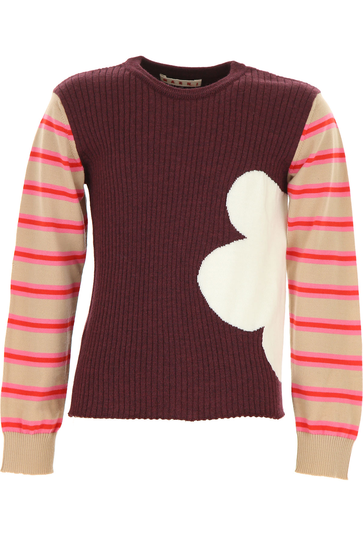 Image of Marni Kids Sweaters for Girls, Bordeaux, Wool, 2017, 10Y 14Y 8Y