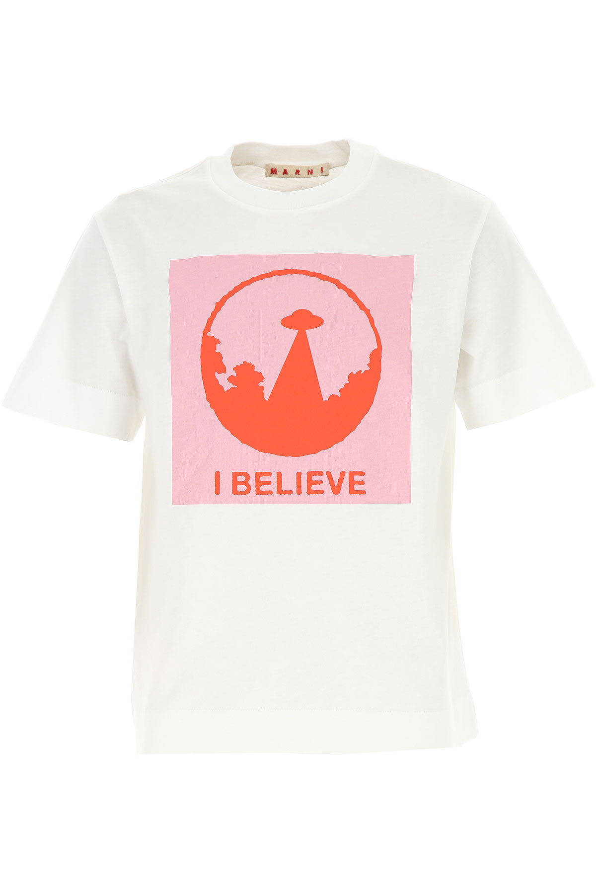 Marni Kids T-Shirt for Girls On Sale, White, Cotton, 2019, 10Y 6Y