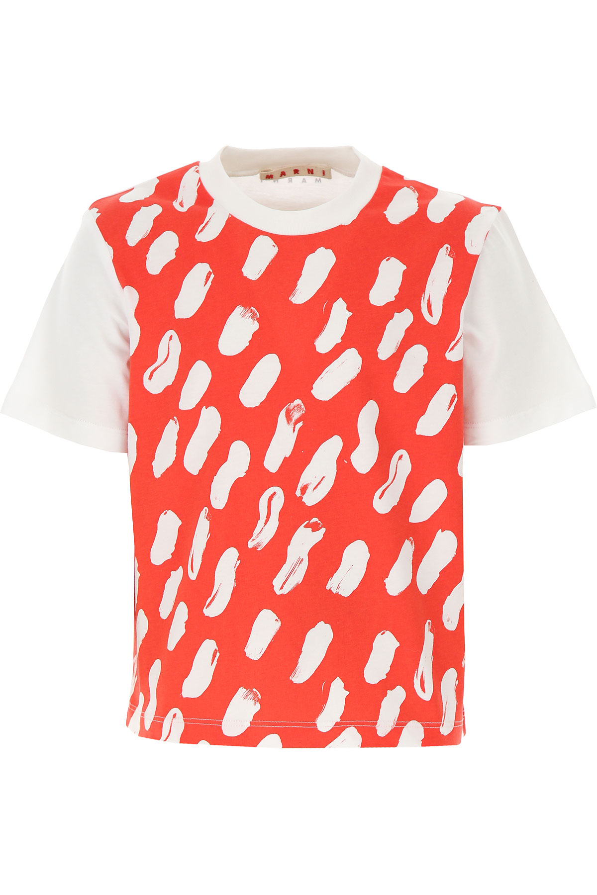 Marni Kids T-Shirt for Girls On Sale, Red, Cotton, 2019, 10Y 12Y 6Y