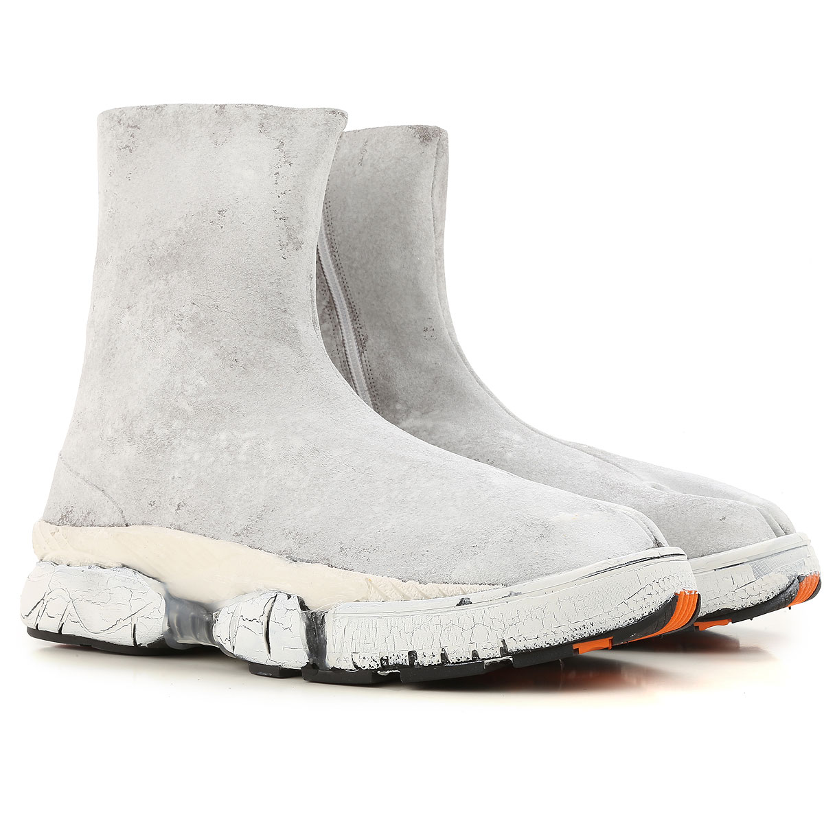 Image of Maison Martin Margiela Boots for Men, Booties, White, Leather, 2017, 10 10.5 6.5 8
