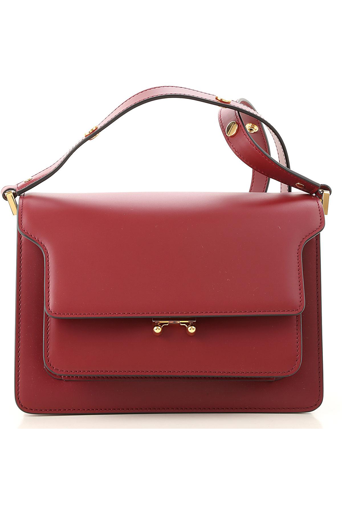 Image of Marni Shoulder Bag for Women, Red, Leather, 2017