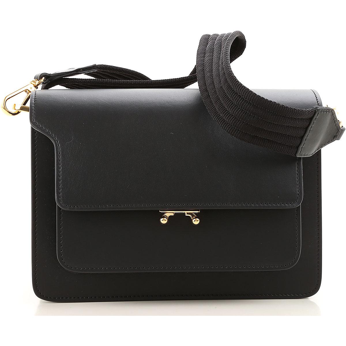 Image of Marni Shoulder Bag for Women, Black, Leather, 2017