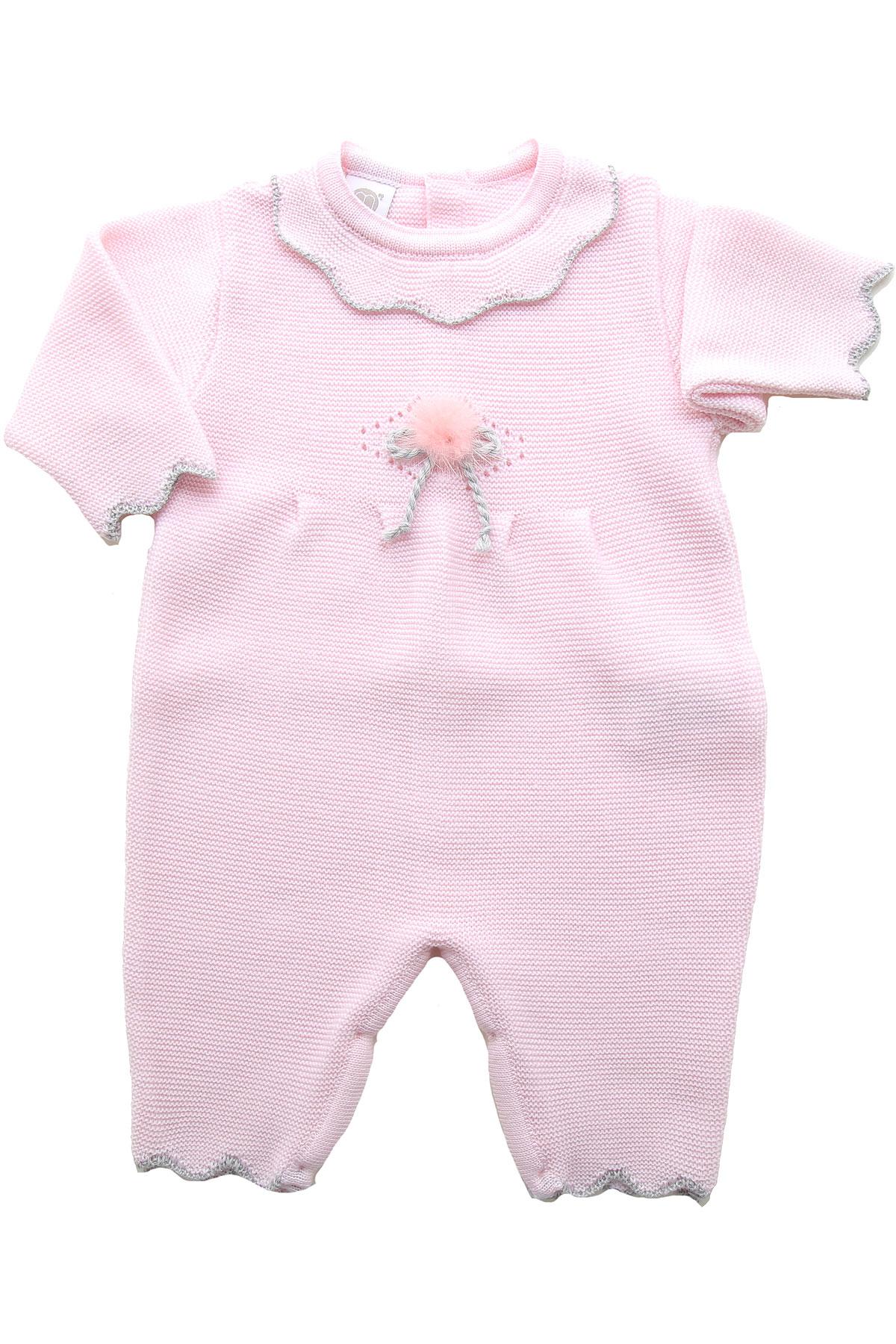 Marlu Baby Bodysuits & Onesies for Girls On Sale, Pink, Wool, 2019, 1M 3M
