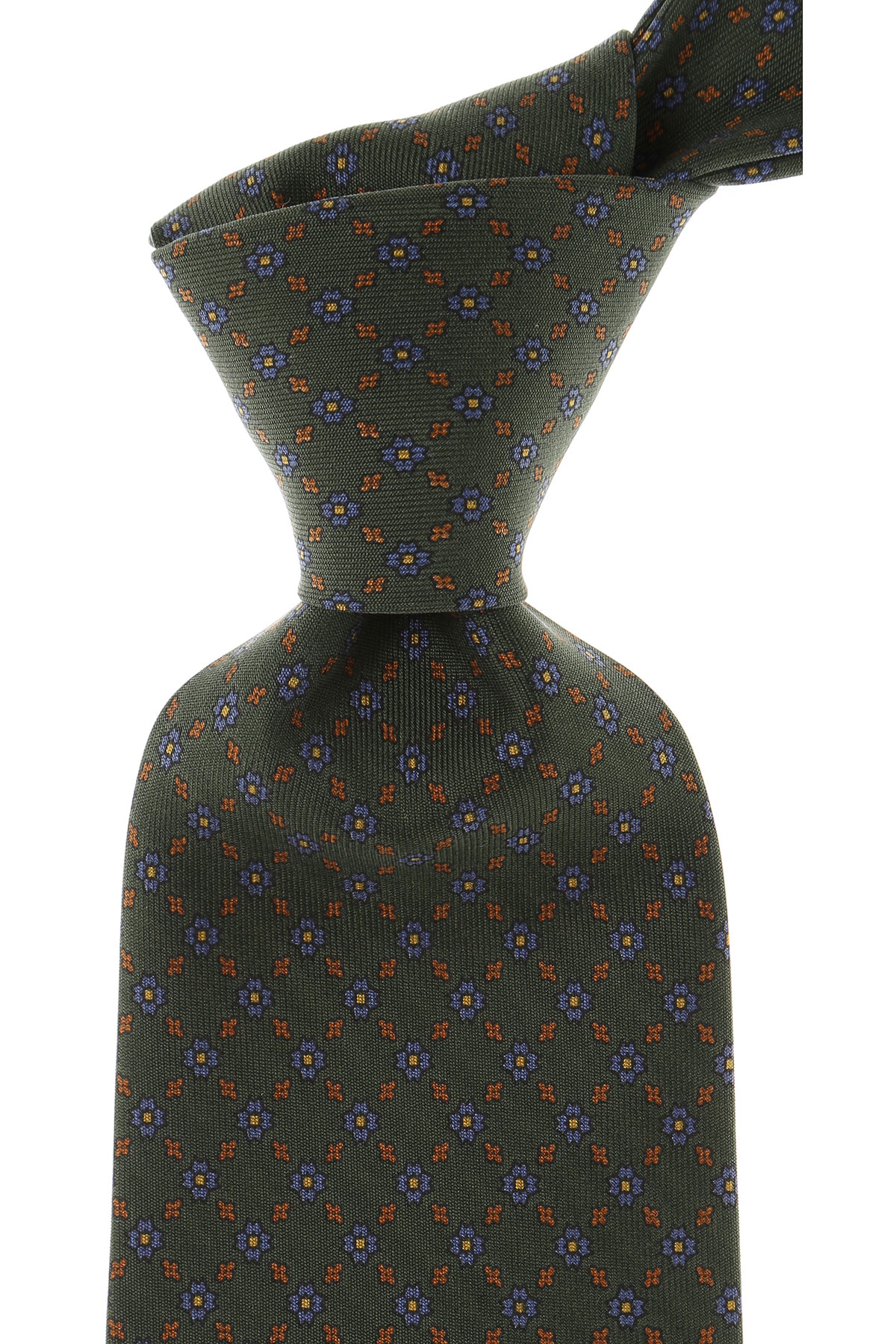 Marinella Ties On Sale, Forest Green, Silk, 2019