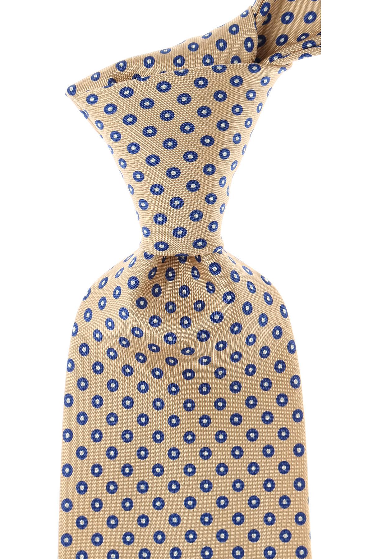 Marinella Cravates Pas cher en Soldes, Beige, Soie, 2019