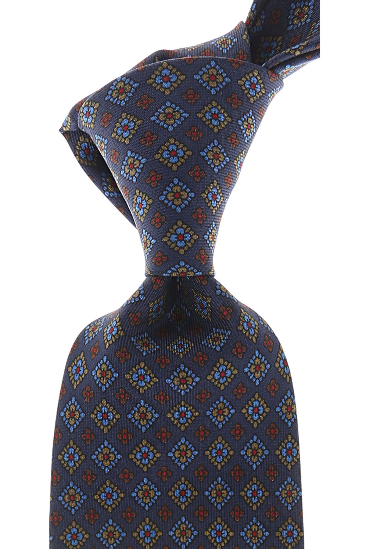 Marinella Cravates Pas cher en Soldes, Bleu marine, Soie, 2019