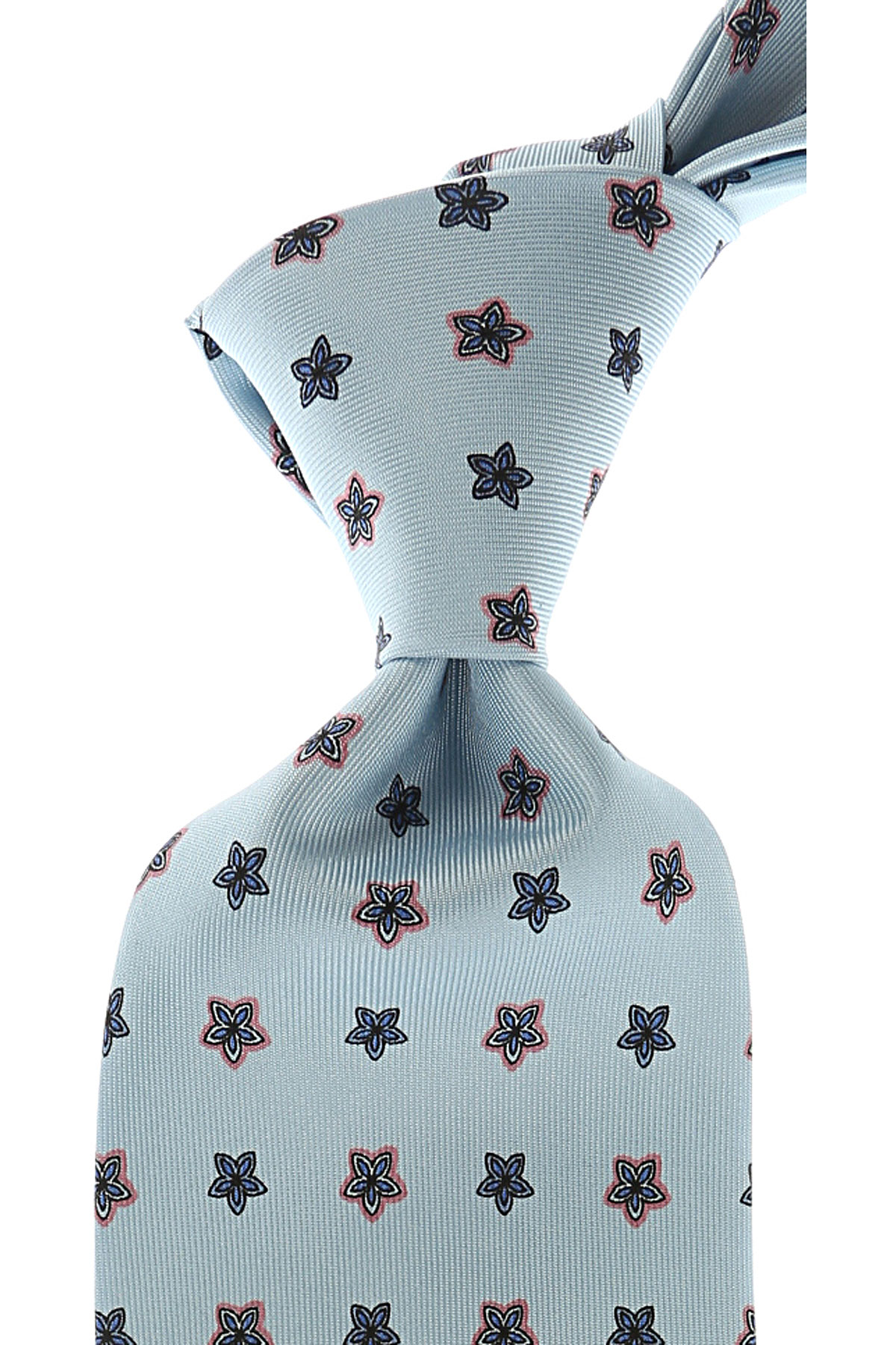 Image of Marinella Ties On Sale, Blizzard Blue, Silk, 2017
