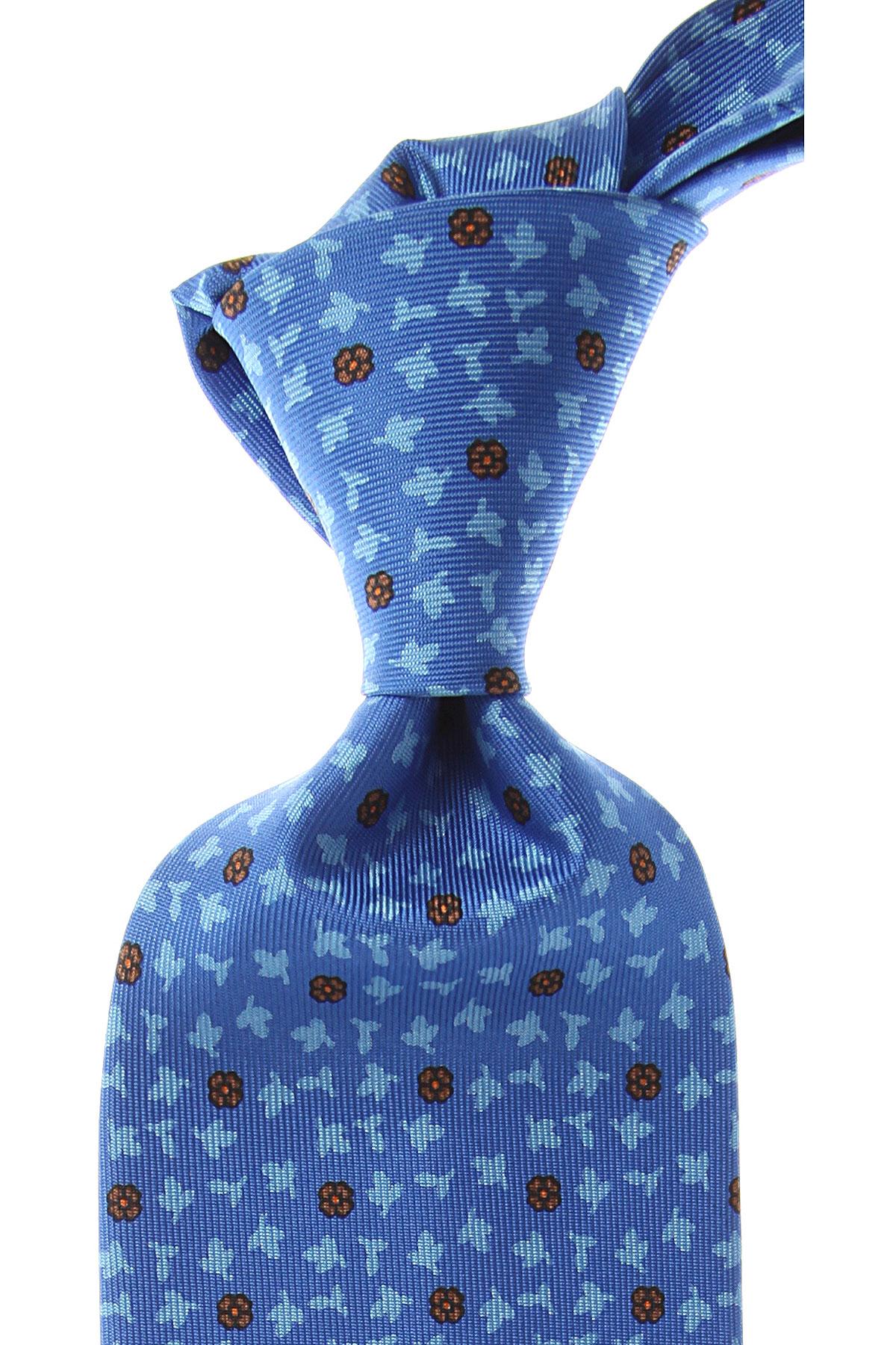 Marinella Cravates Pas cher en Soldes, Bleu ciel, Soie, 2017