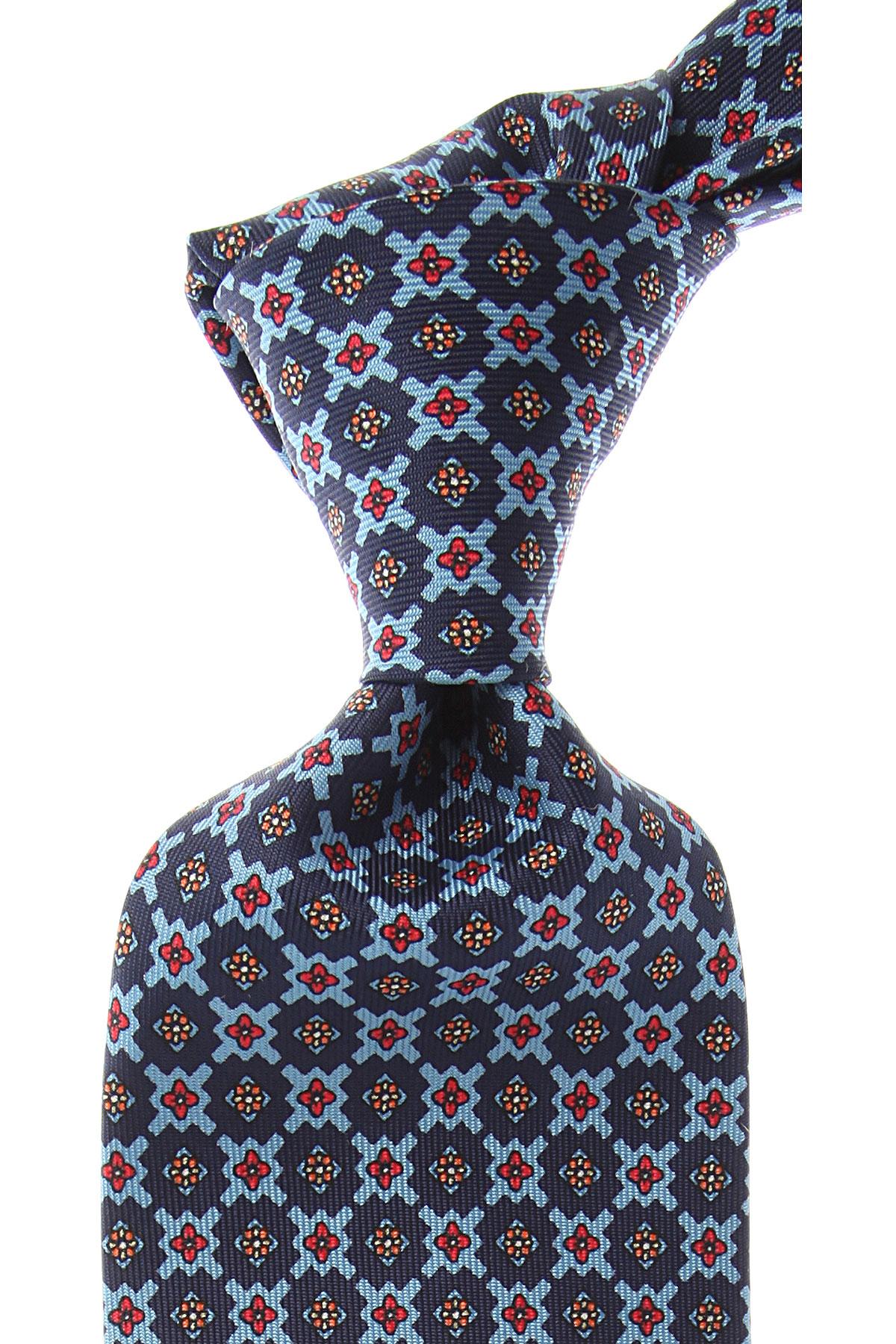 Marinella Cravates Pas cher en Soldes, Bleu nuit, Soie, 2017