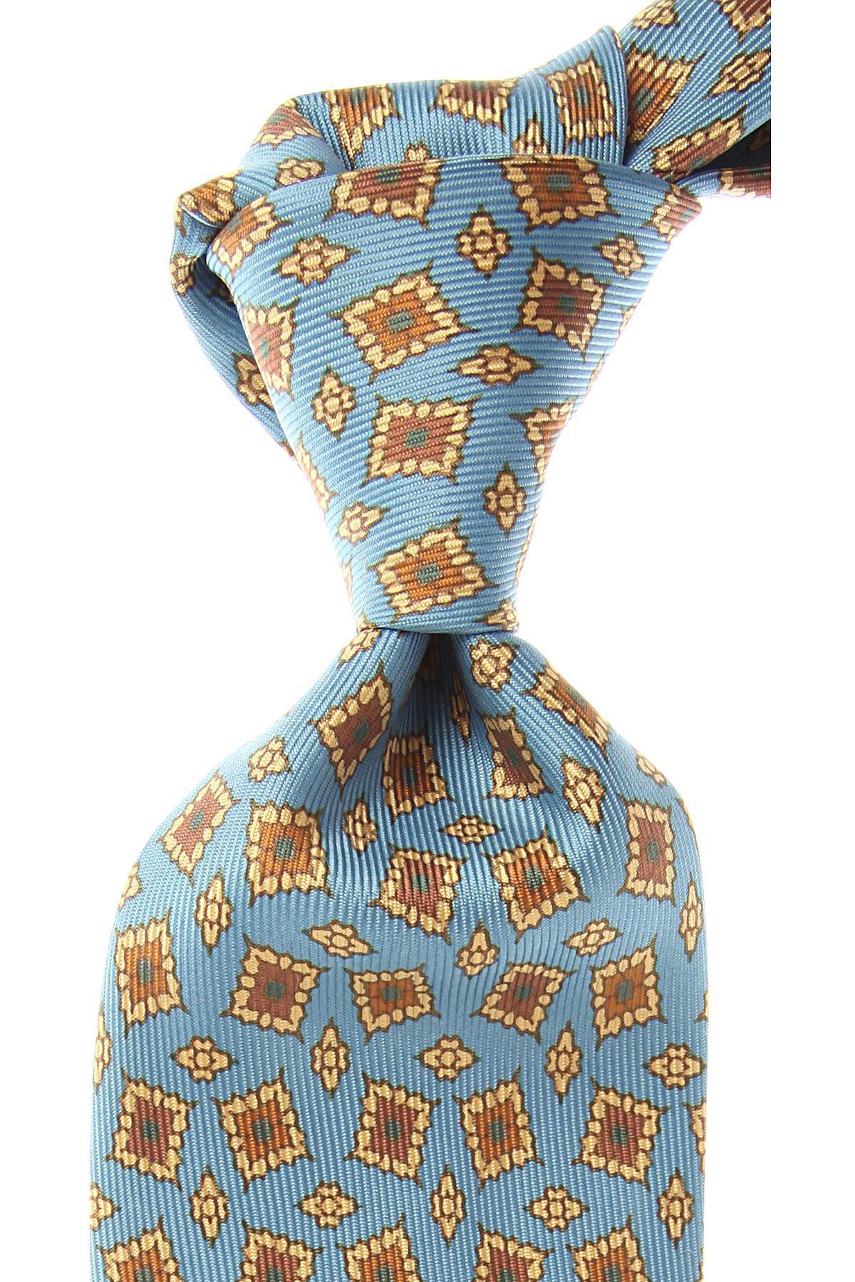 Marinella Cravates Pas cher en Soldes, Bleu ciel clair, Soie, 2017