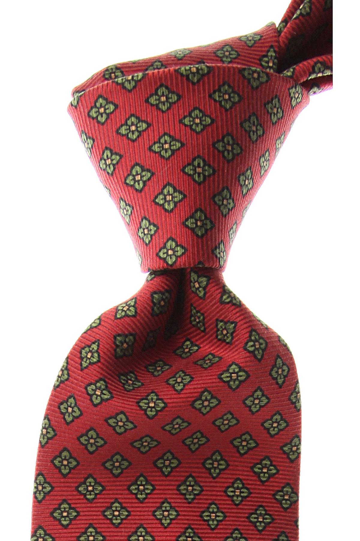 Marinella Cravates Pas cher en Soldes, Rouge brique, Soie, 2017