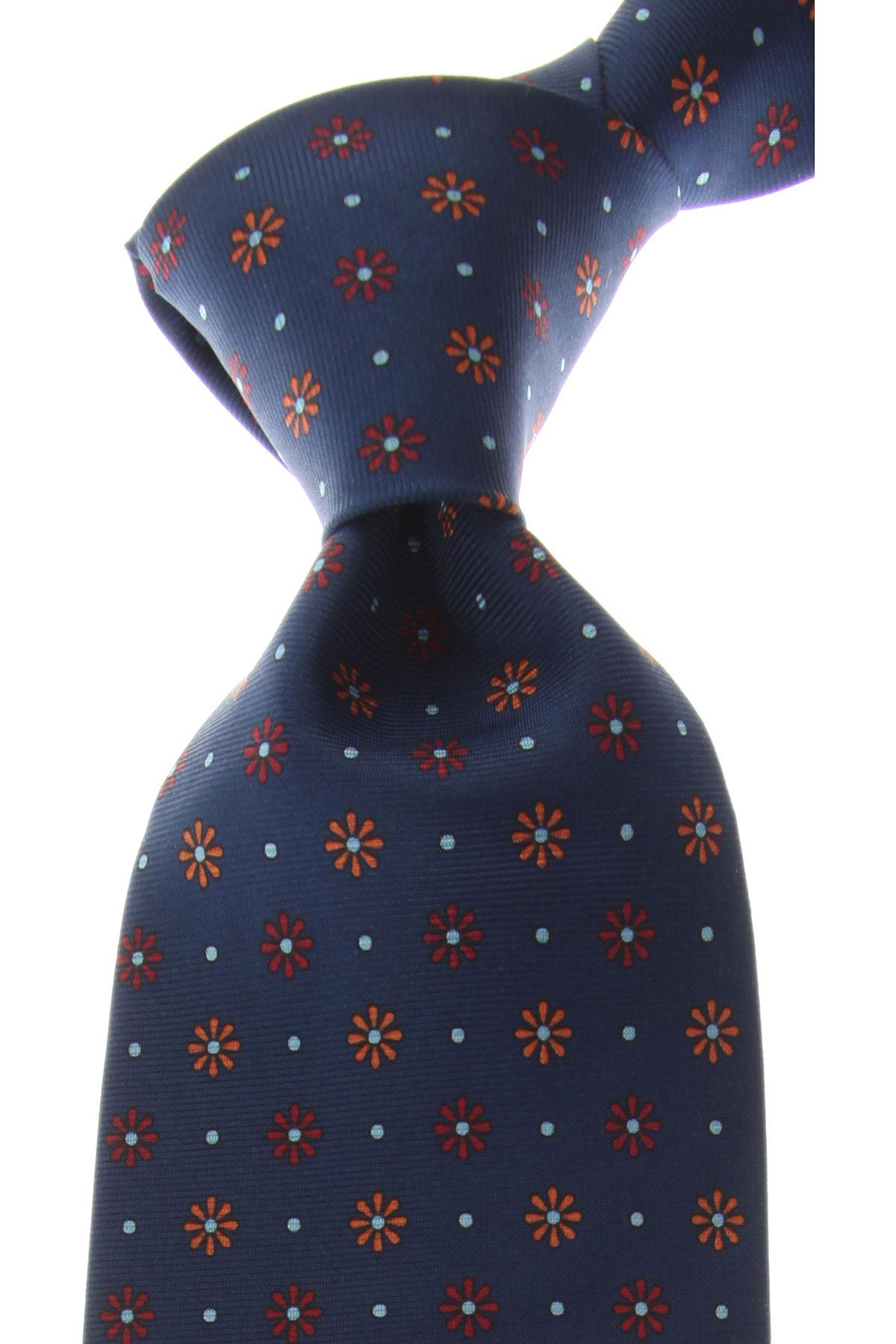 Marinella Cravates Pas cher en Soldes, Bleu Royal, Soie, 2019