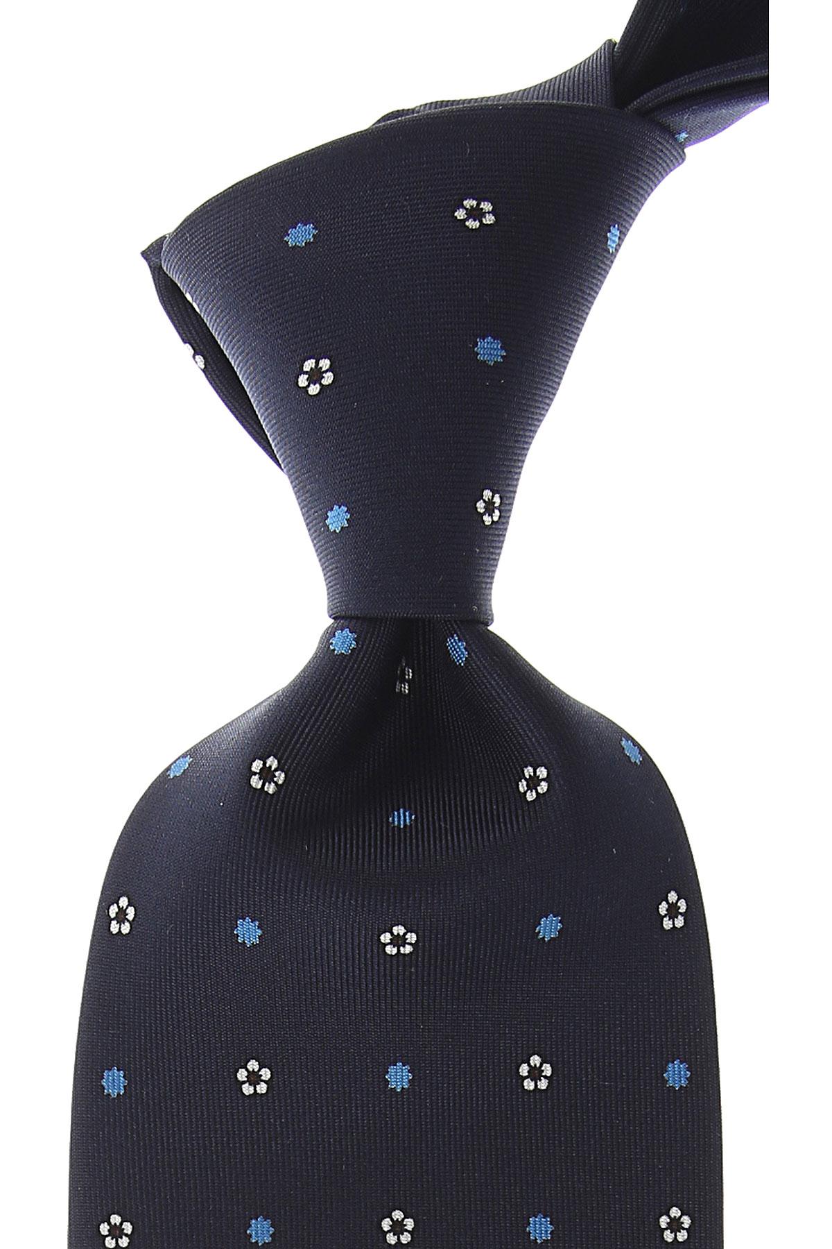 Marinella Cravates Pas cher en Soldes, Bleu nuit foncé, Soie, 2017