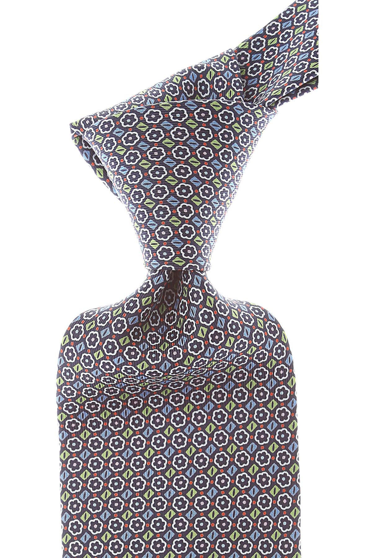 Marinella Cravates Pas cher en Soldes, Bleu nuit, Soie, 2021