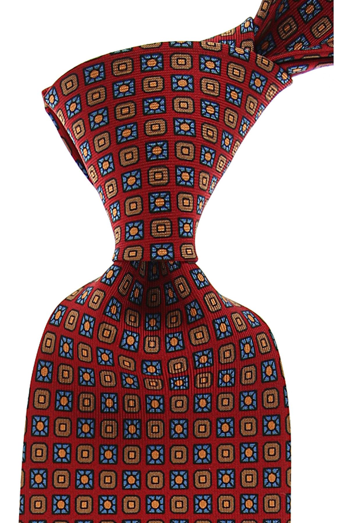 Marinella Cravates Pas cher en Soldes, Rouge foncé, Soie, 2021