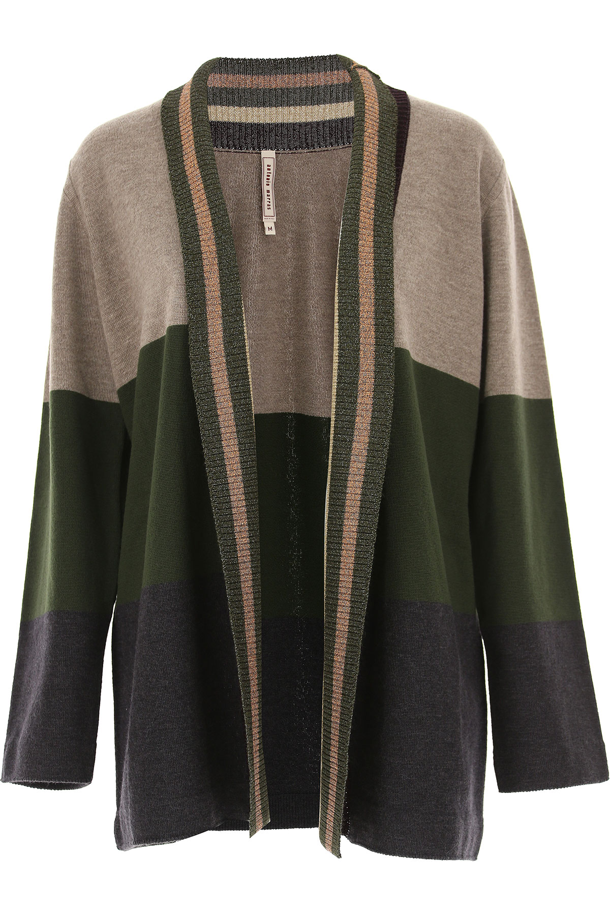 Image of Antonio Marras Sweater for Women Jumper, Grey, Wool, 2017, 10 4 6 8