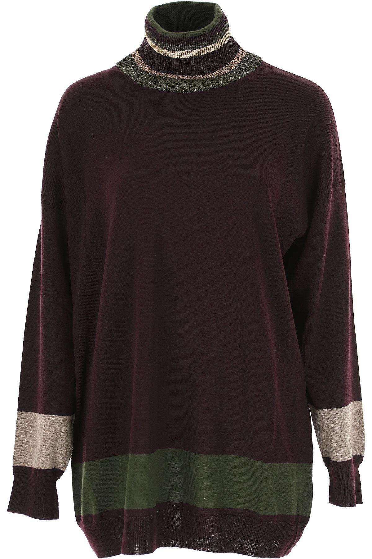 Image of Antonio Marras Sweater for Women Jumper, Dark Bordeaux, Wool, 2017, 4 6