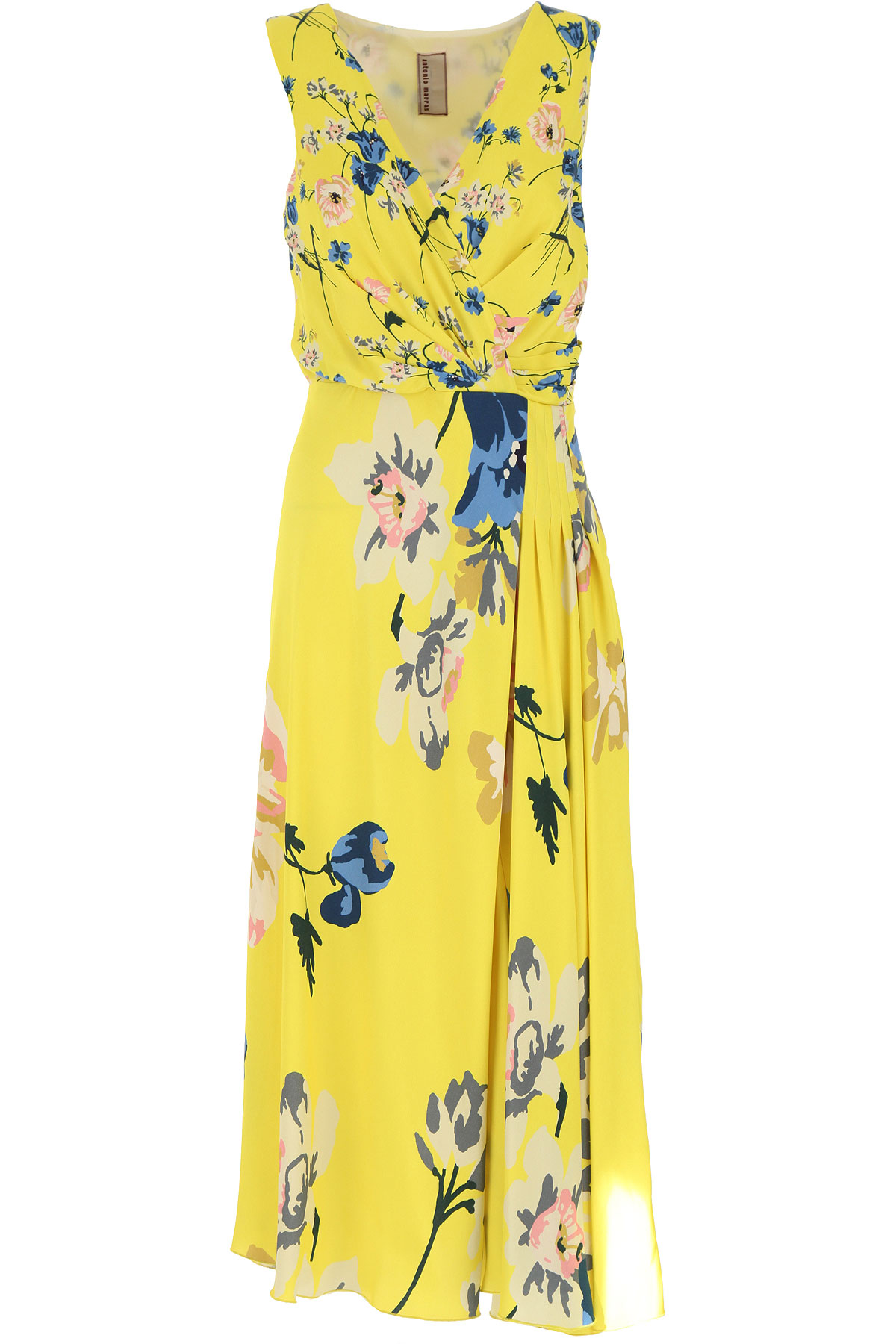 Antonio Marras Dress for Women, Evening Cocktail Party On Sale, Yellow, Viscose, 2019, 1 (S - 40/42) 2 (M - 42/44)