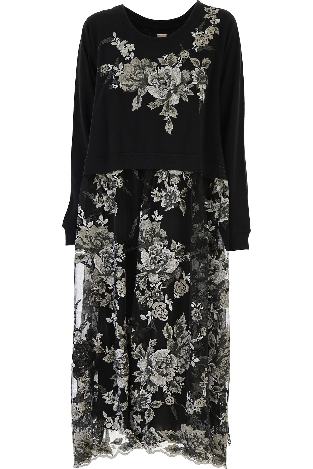 Antonio Marras Dress for Women, Evening Cocktail Party On Sale, Black, viscosa, 2019, 1 (S - 40/42) 2 (M - 42/44)