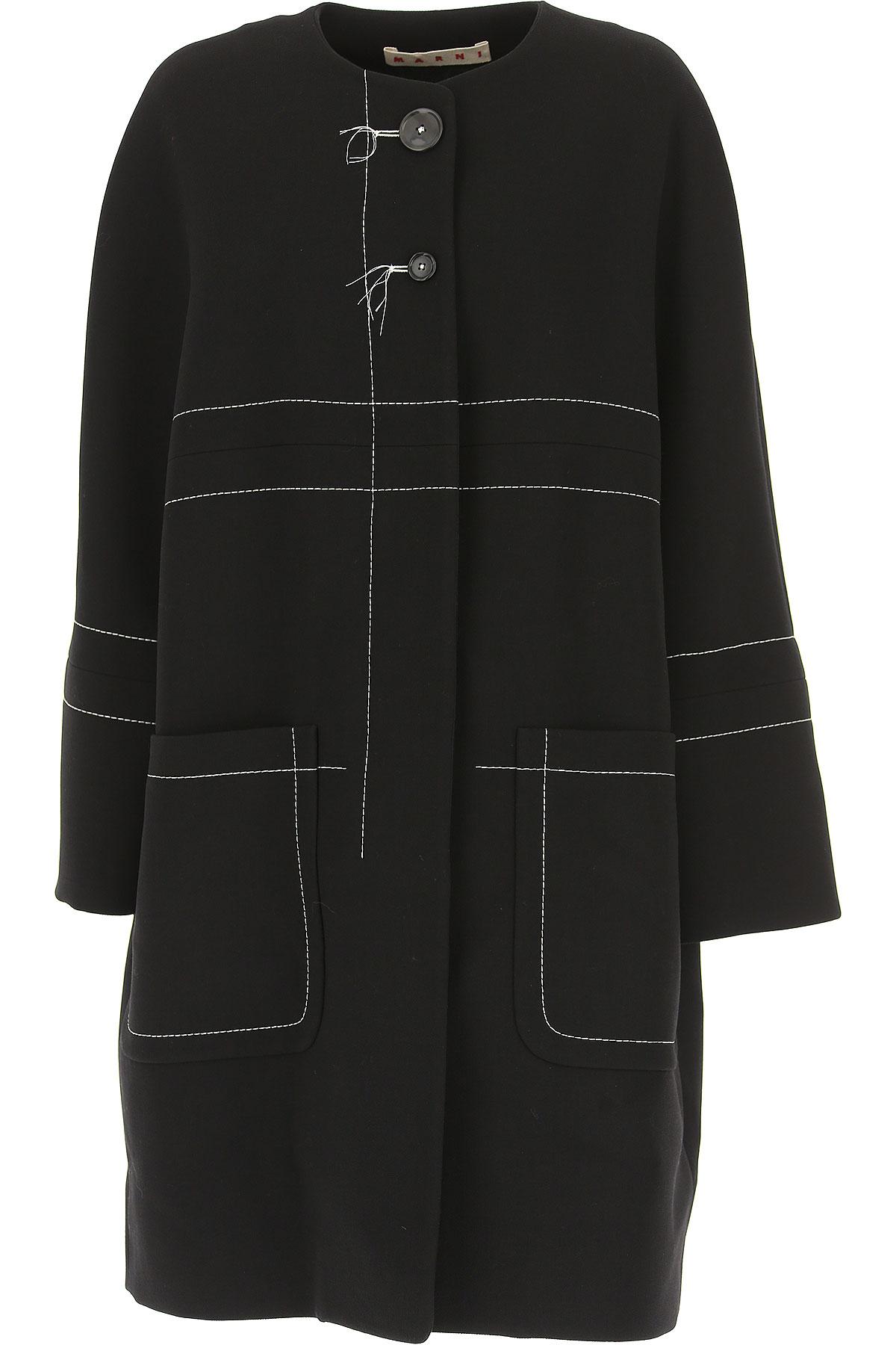 Image of Marni Women\'s Coat, Black, Virgin wool, 2017, 4 6 8
