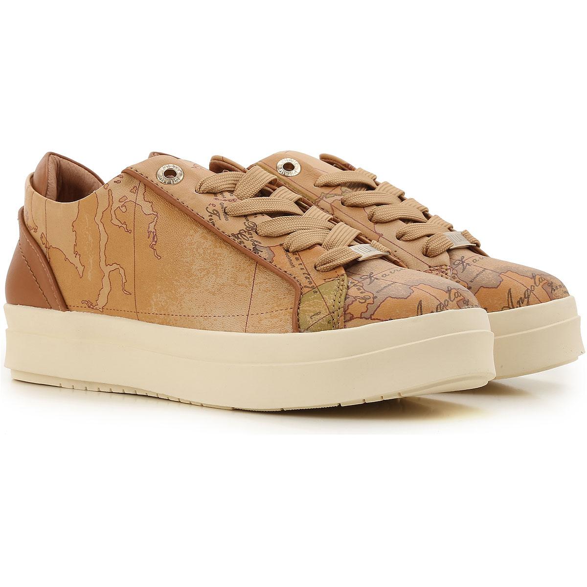 Alviero Martini Sneaker Femme, Marron cuir, Cuir, 2017, 35 36 37 39 40