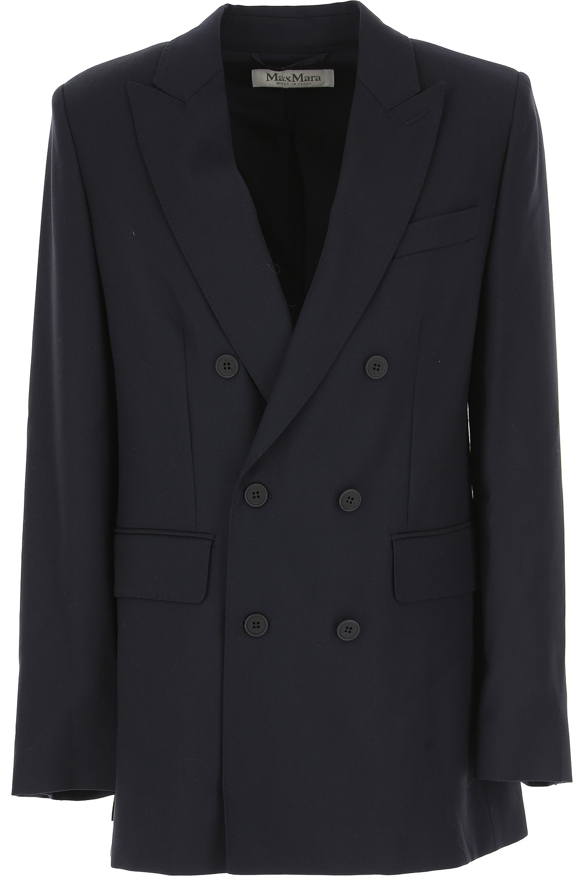 Image of Weekend by Max Mara Blazer for Women, Blue Navy, Wool, 2017, 4 6