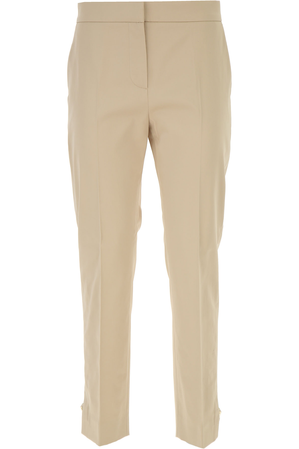 Image of Weekend by Max Mara Pants for Women On Sale, Beige, Cotton, 2017, 26 30