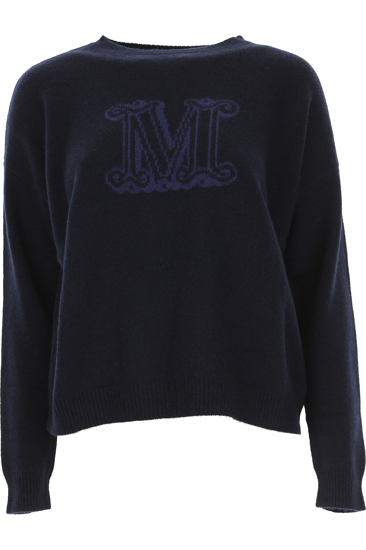 Image of Weekend by Max Mara Sweater for Women Jumper, Navy Blue, Wool, 2017, 2 4 6 8