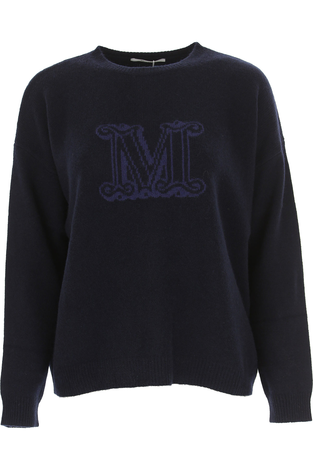 Image of Weekend by Max Mara Sweater for Women Jumper, Navy Blue, Cashemere, 2017, 2 4 6