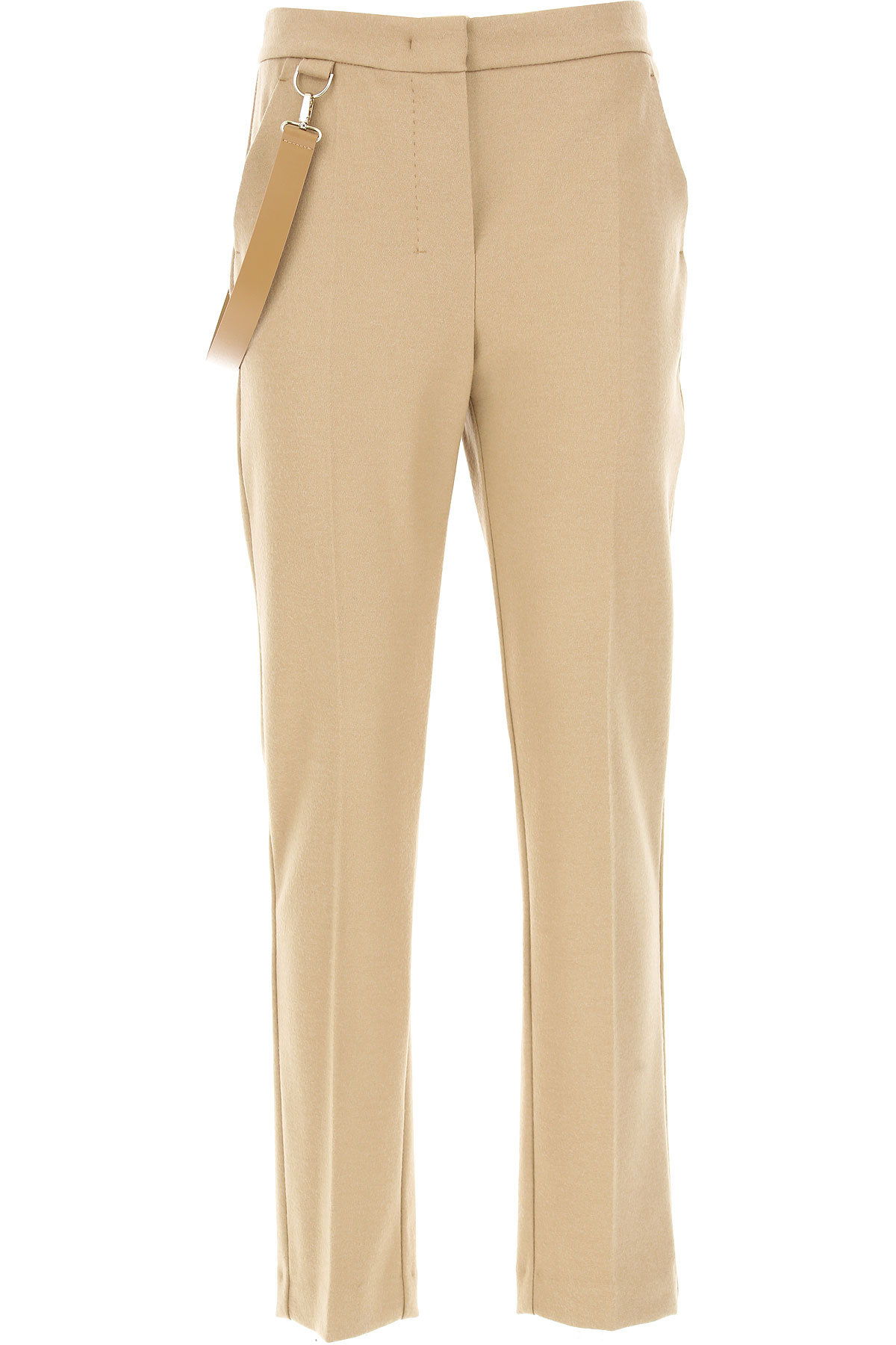 Image of Weekend by Max Mara Pants for Women, Camel, Virgin wool, 2017, 26 30