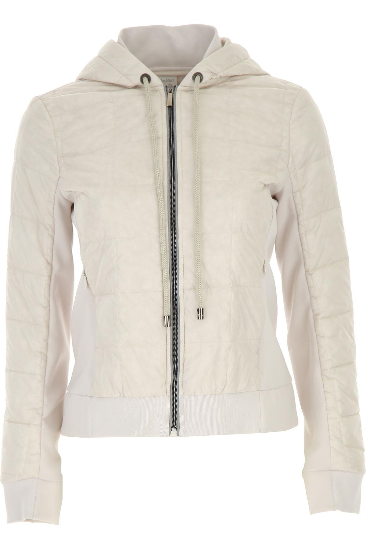 Max Mara Down Jacket for Women, Puffer Ski Jacket On Sale, White, polyamide, 2019, 10 4 6 8