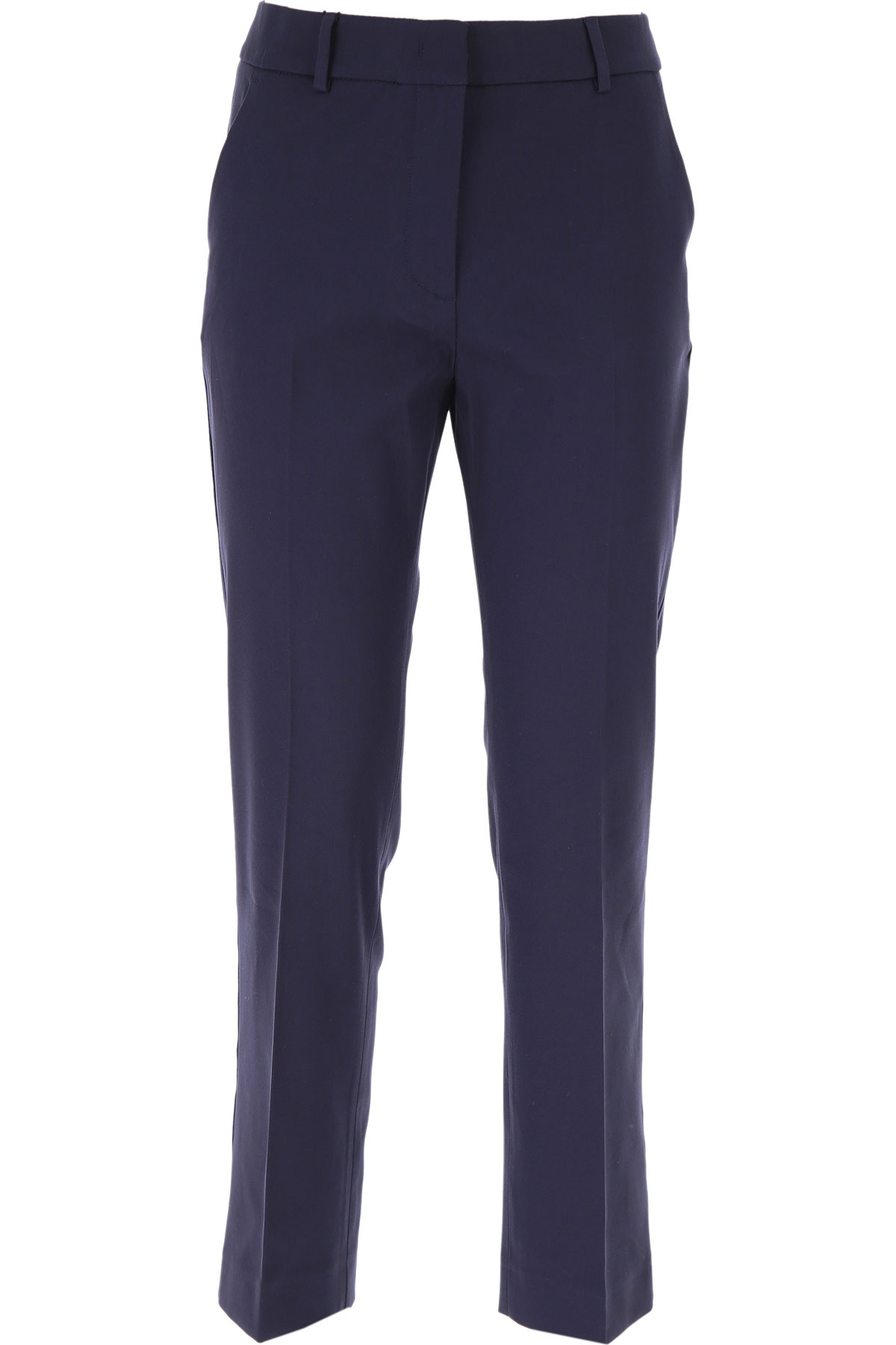 Max Mara Pants for Women On Sale, Navy Blue, Cotton, 2019, 30 34 8