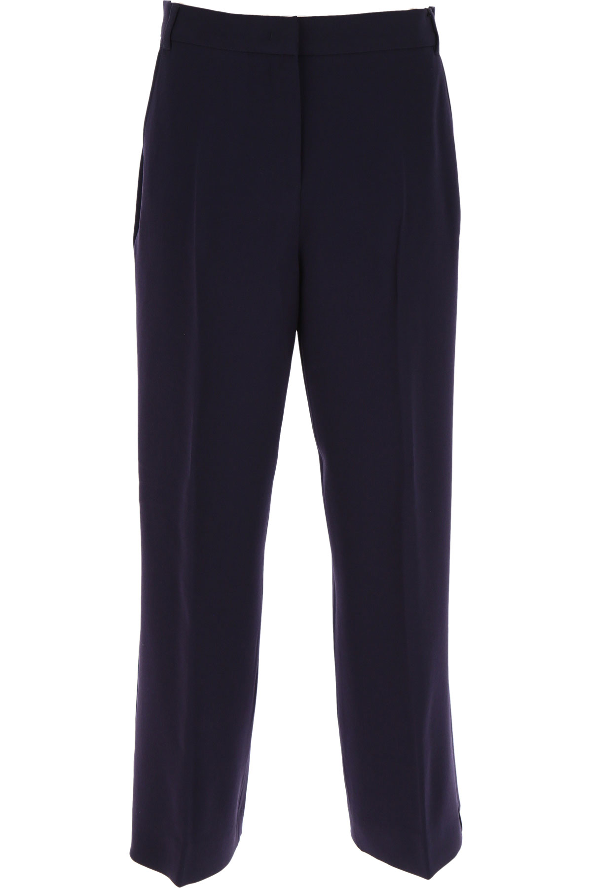 Max Mara Pants for Women On Sale, Navy Blue, acetate, 2019, 30 34 8