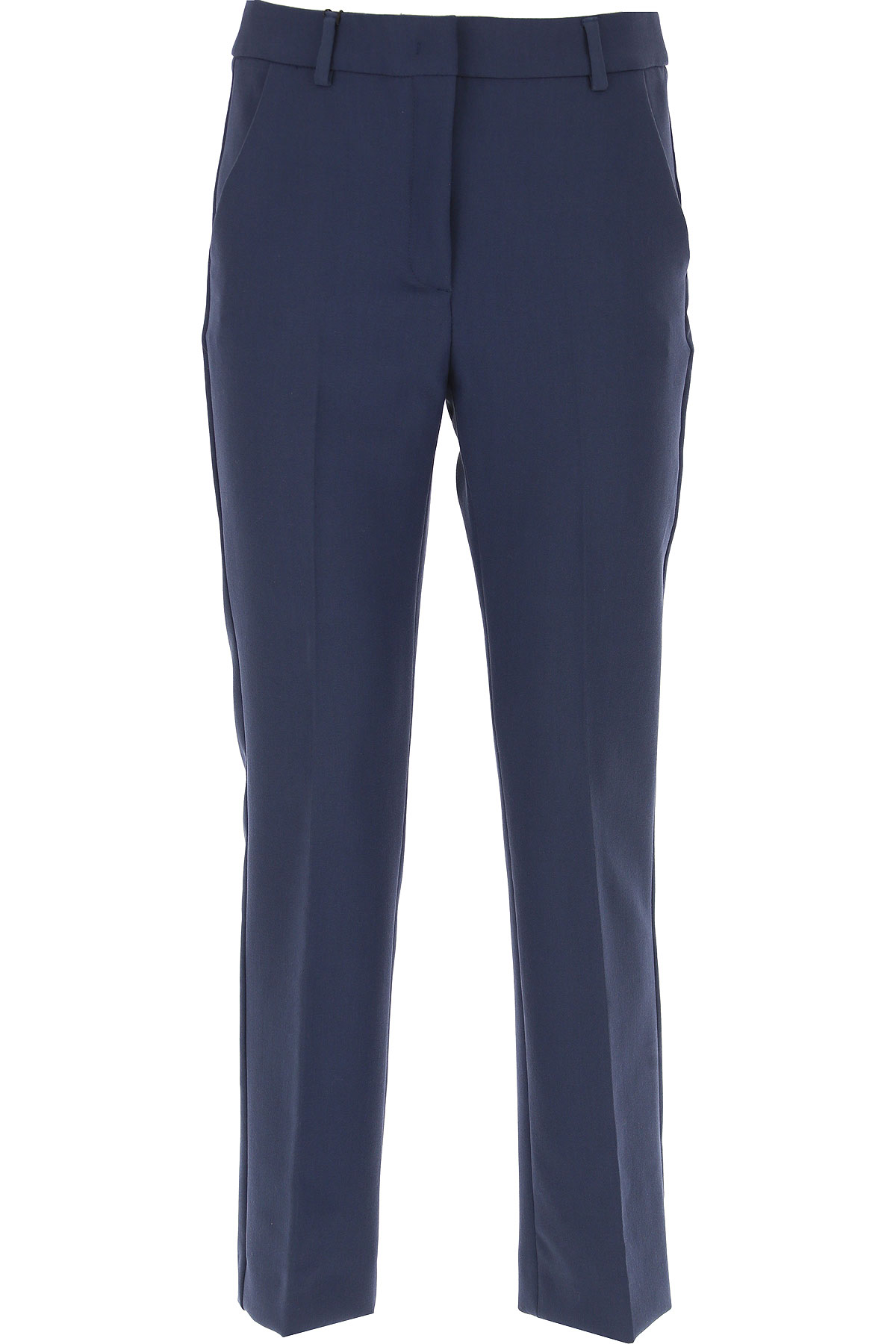 Image of Weekend by Max Mara Pants for Women, Blue, polyester, 2017, 24 26 28 30 32