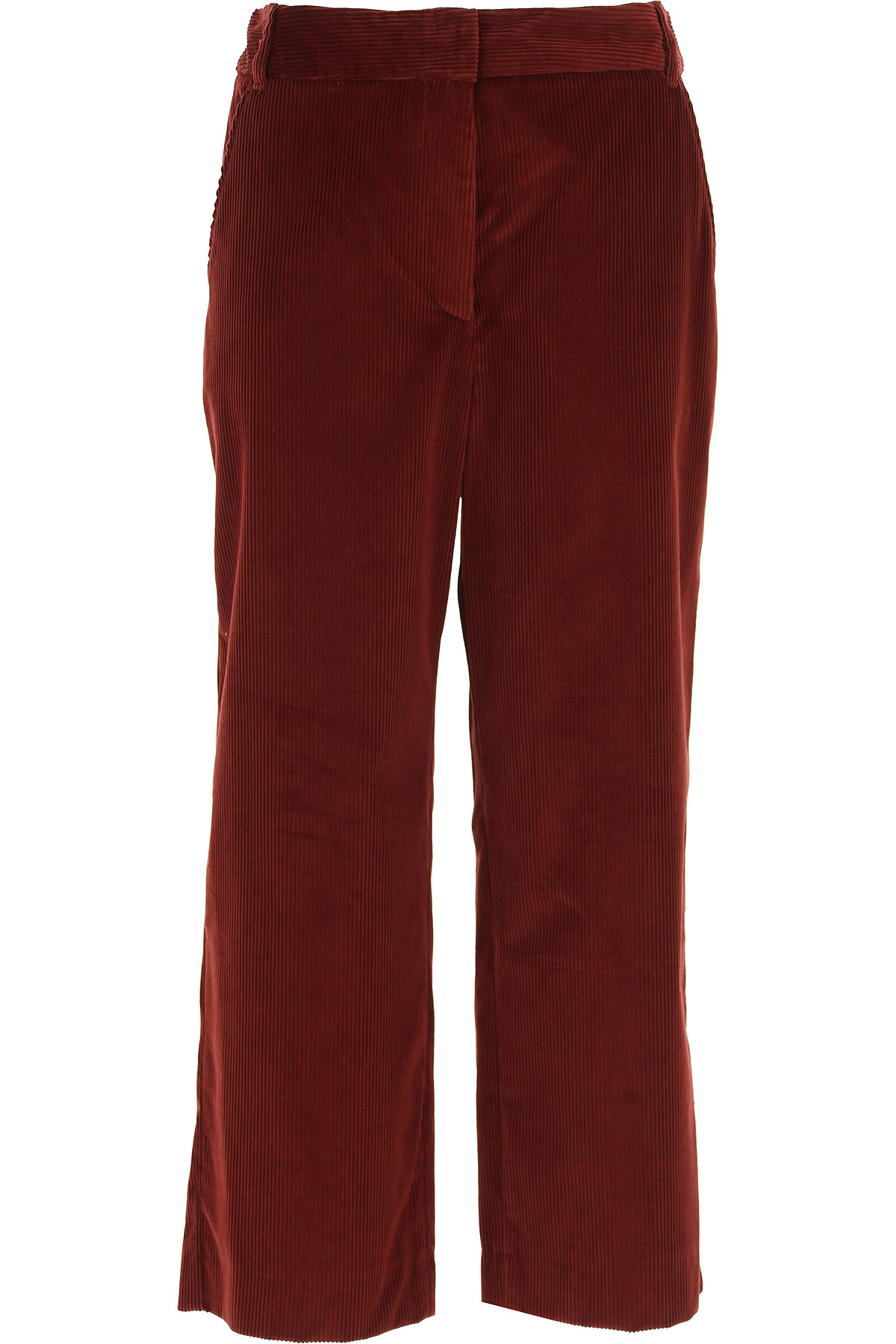 Image of Weekend by Max Mara Pants for Women, Bordeaux, Cotton, 2017, 28 30