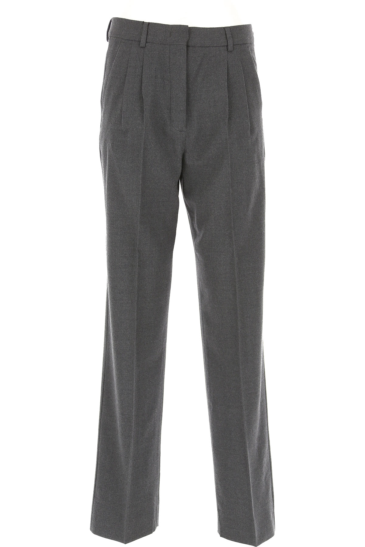 Image of Weekend by Max Mara Pants for Women, Grey, Virgin wool, 2017, 26 28 30 32 34