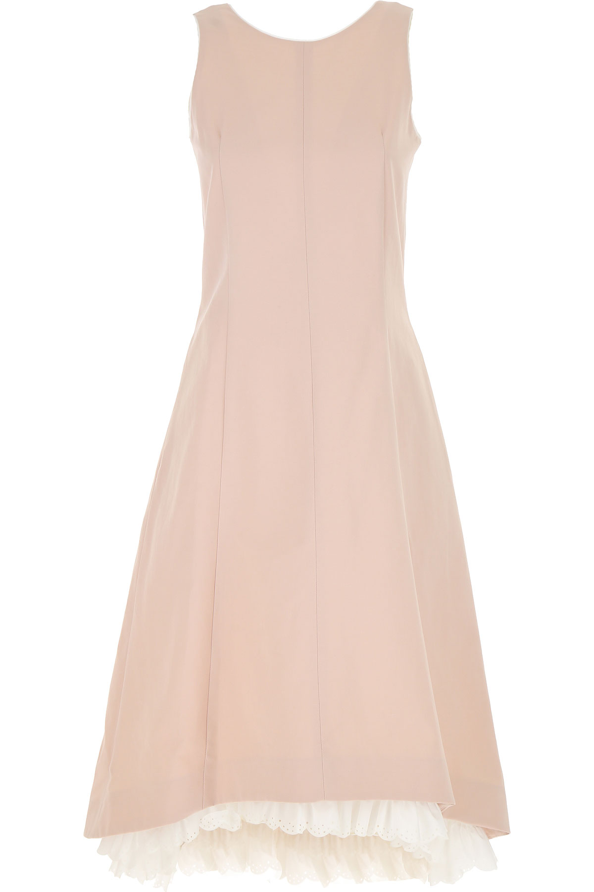 Max Mara Dress for Women, Evening Cocktail Party On Sale, Powder Pink, Cotton, 2019, 2 4
