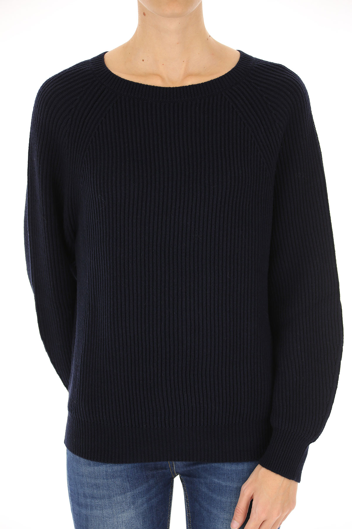 Image of Weekend by Max Mara Sweater for Women Jumper, Midnight Blue, Cotton, 2017, 10 2 4 6 8