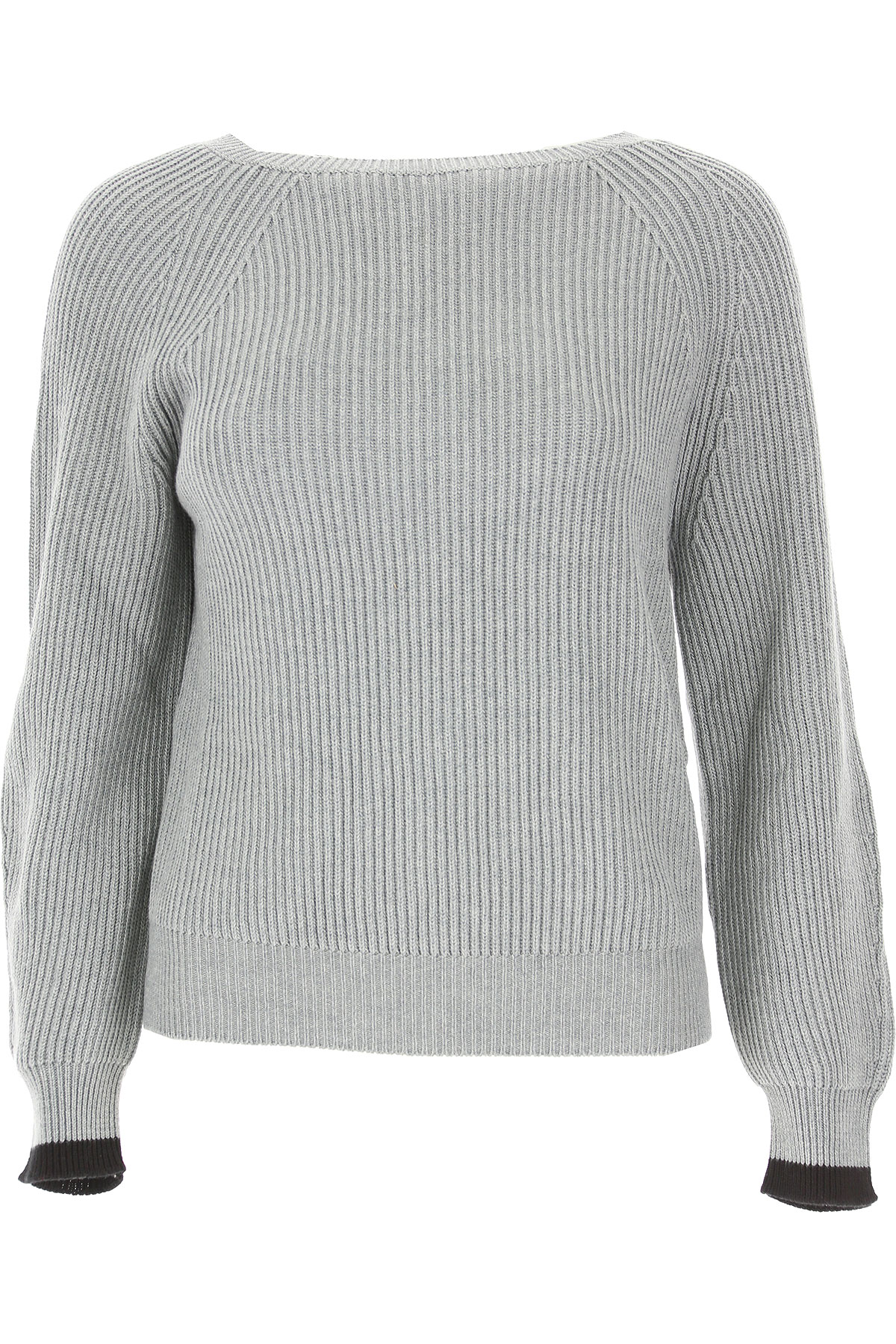 Image of Weekend by Max Mara Sweater for Women Jumper, Grey, Cotton, 2017, 10 2 4 6 8