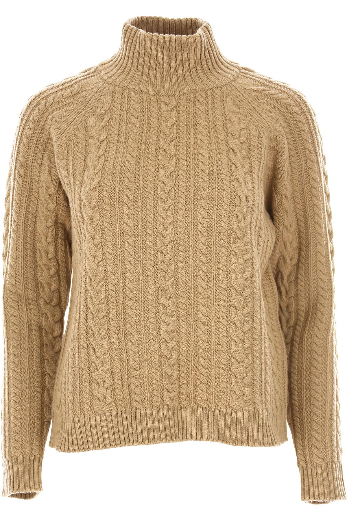 Image of Weekend by Max Mara Sweater for Women Jumper, Weekend Max Mara, Beige, Virgin wool, 2017, 4 6 8