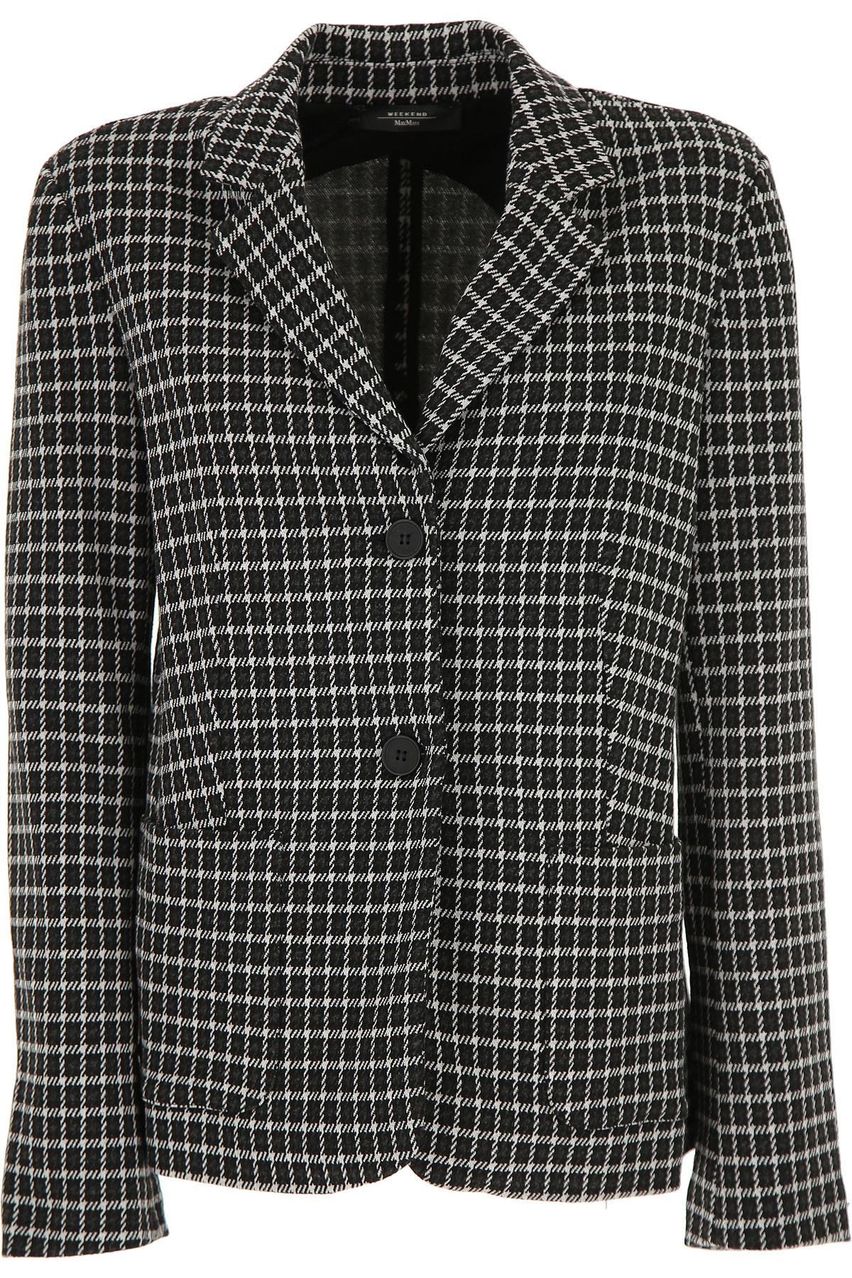 Max Mara Blazer for Women On Sale, Black, Viscose, 2019, 10 4 6 8