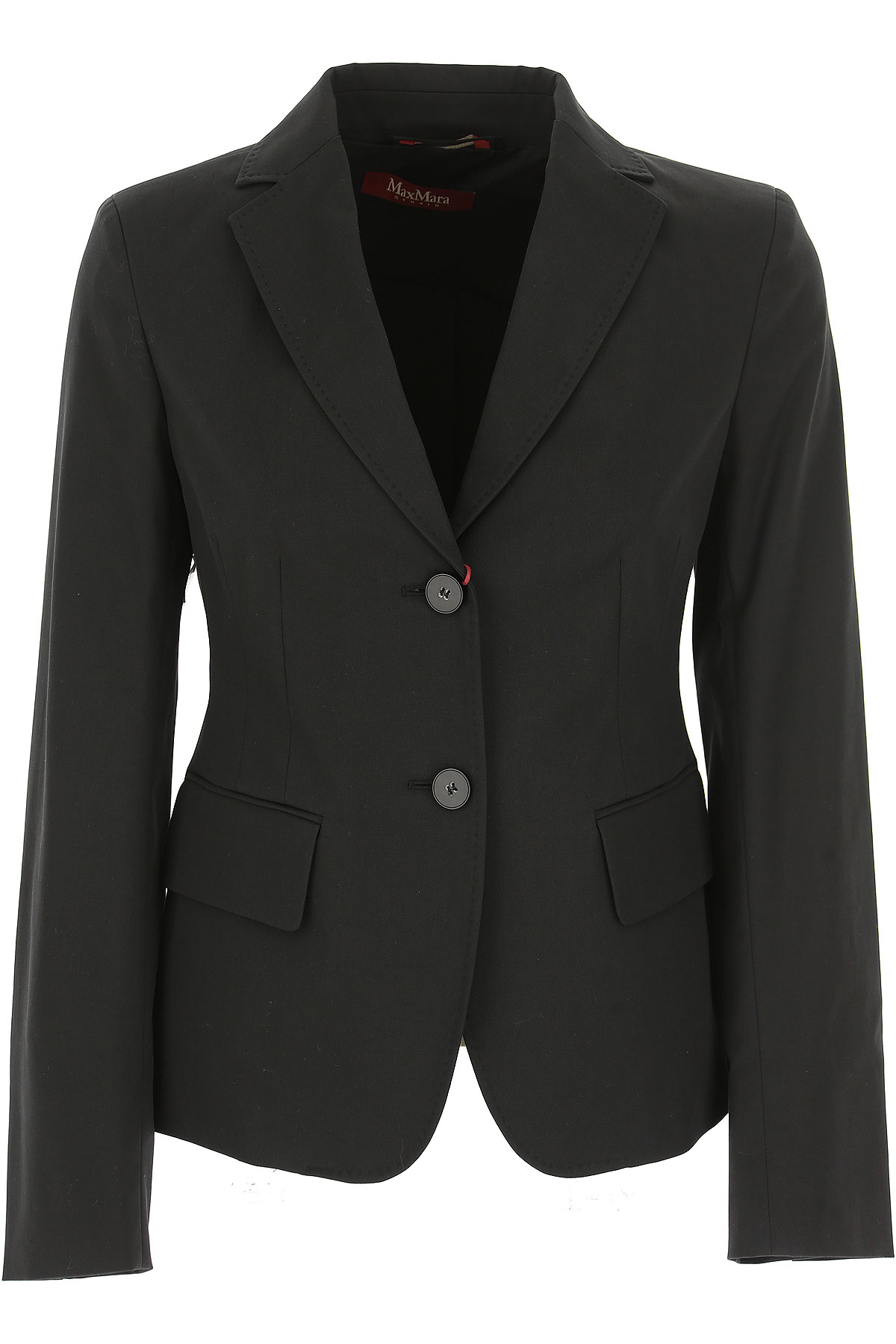 Image of Weekend by Max Mara Blazer for Women On Sale, Black, Cotton, 2017, 4 8