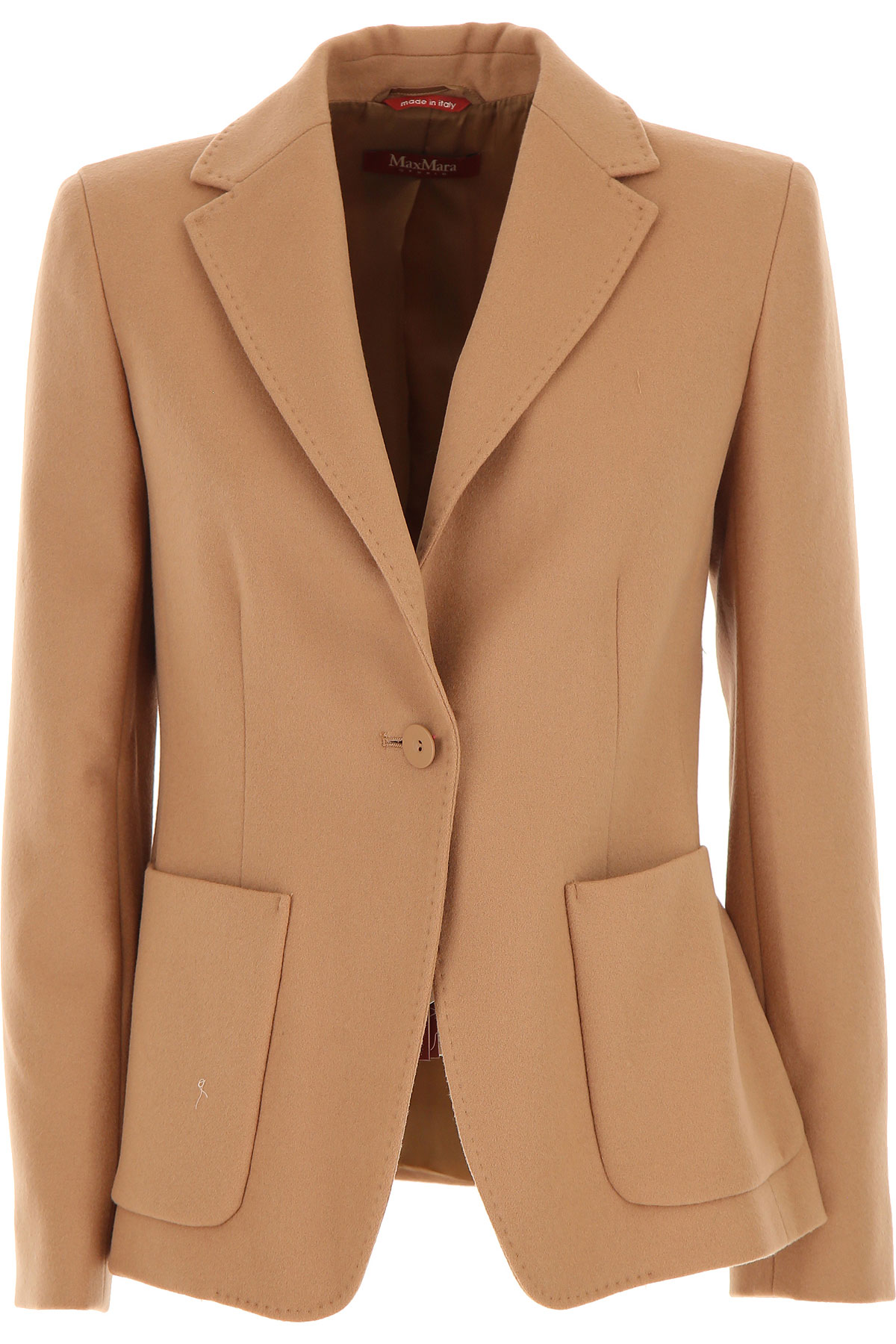 Max Mara Blazer for Women On Sale, Caramel, Wool, 2019, 4 6
