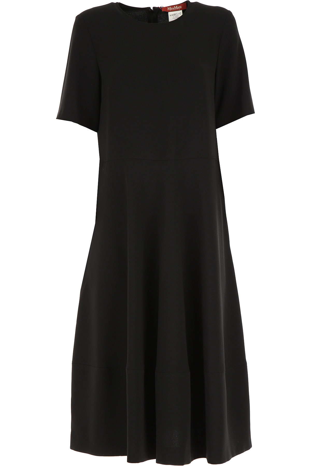 Max Mara Dress for Women, Evening Cocktail Party On Sale, Black, Triacetate, 2019, 4 6