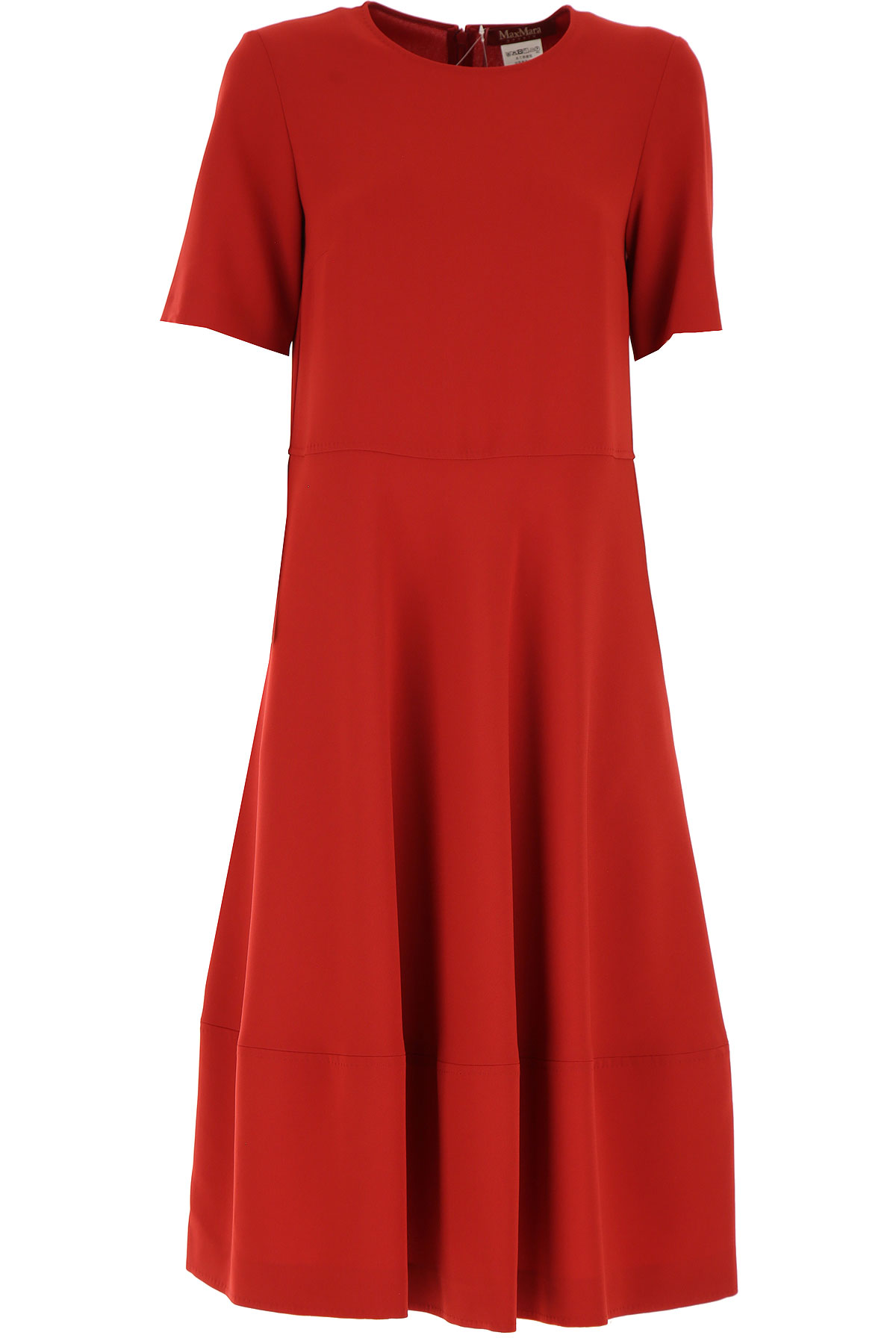 Max Mara Dress for Women, Evening Cocktail Party On Sale, Acacia Red, Triacetate, 2019, 4 6