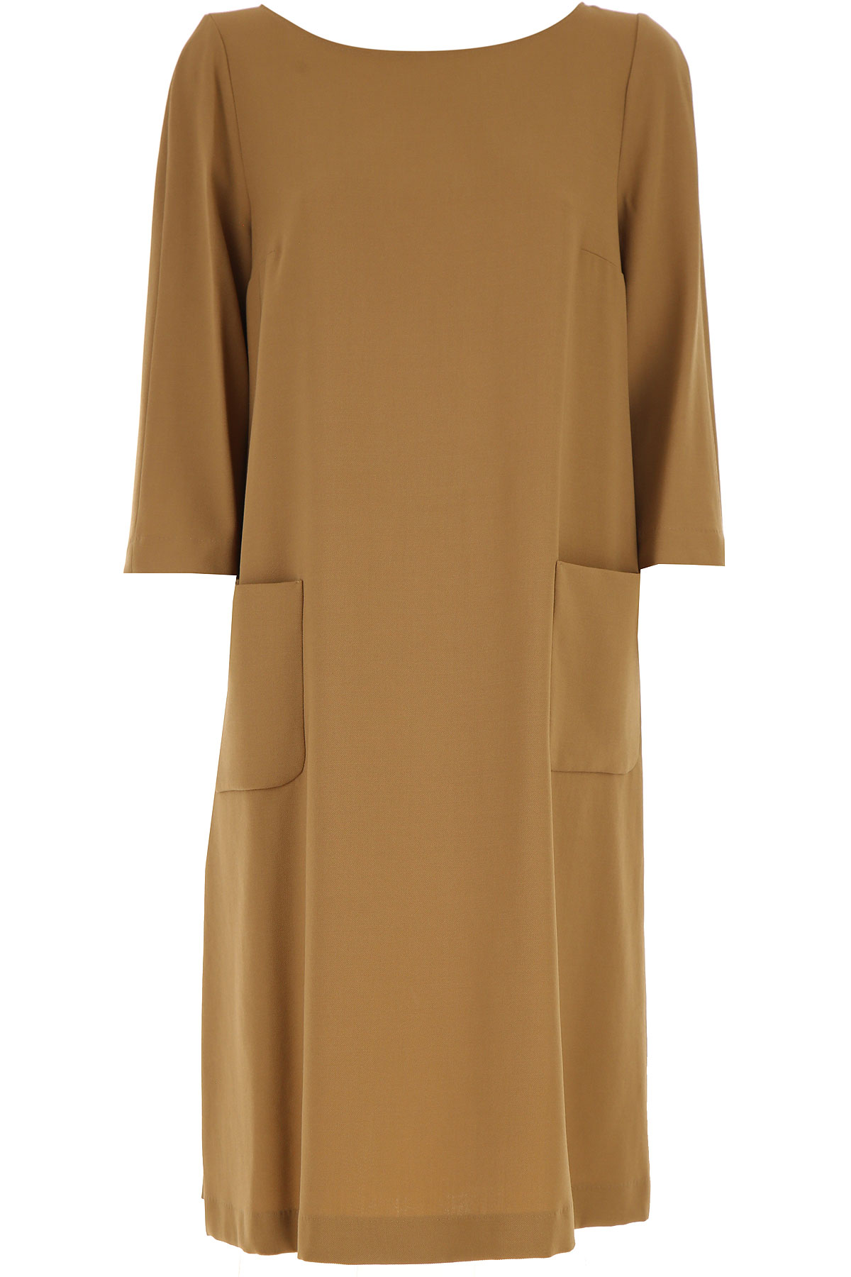 Max Mara Dress for Women, Evening Cocktail Party On Sale, Camel, Wool, 2019, 4 6