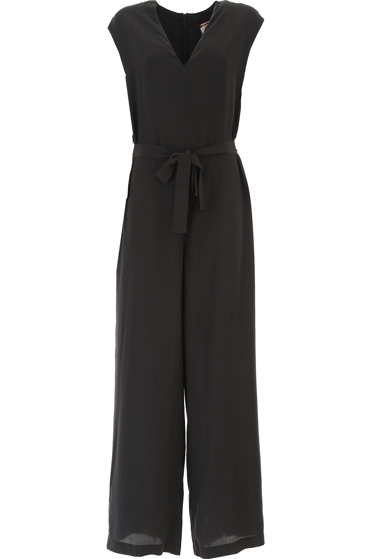 Max Mara Dress for Women, Evening Cocktail Party On Sale, Black, Silk, 2019, 6 8