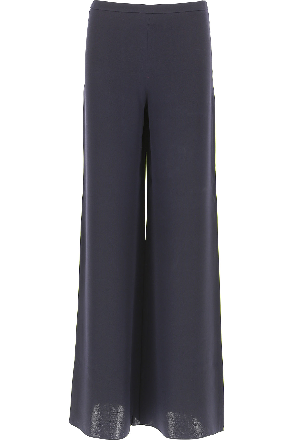 Image of Weekend by Max Mara Pants for Women, Blue, Silk, 2017, 26 28 30