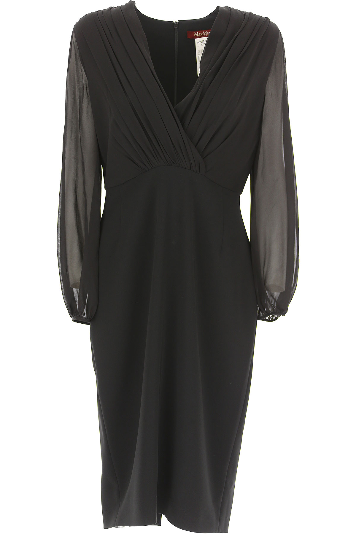 Image of Weekend by Max Mara Dress for Women, Evening Cocktail Party, Black, Silk, 2017, 4 6 8