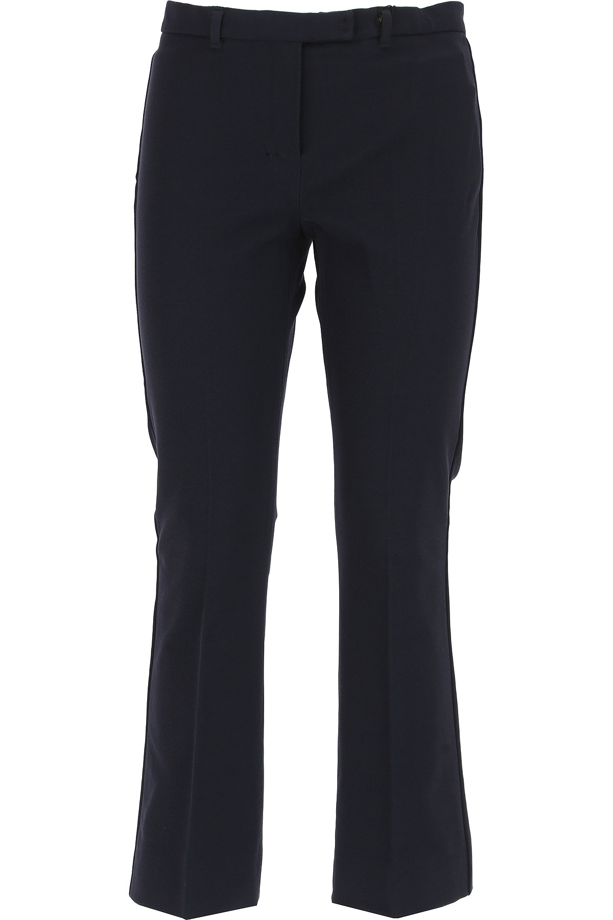 Image of Weekend by Max Mara Pants for Women, Midnight Blue, Cotton, 2017, 26 28 30